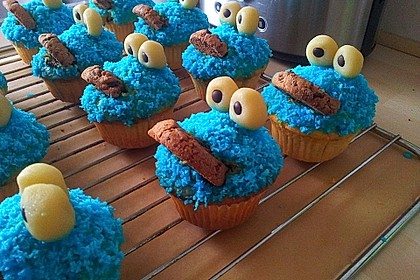 Krümelmonster Cupcakes 21