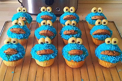 Krümelmonster Cupcakes 25