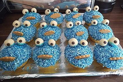 Krümelmonster Cupcakes 42