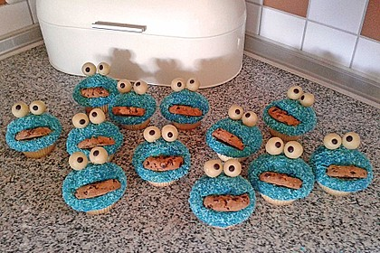 Krümelmonster Cupcakes 23