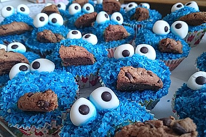 Krümelmonster Cupcakes 9