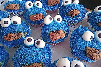 Krümelmonster Cupcakes 15