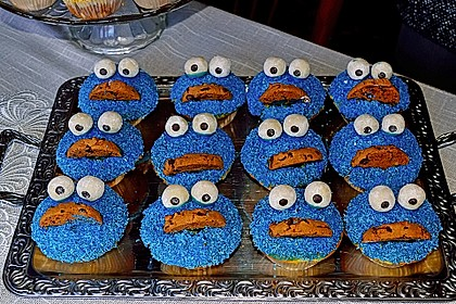 Krümelmonster Cupcakes 16