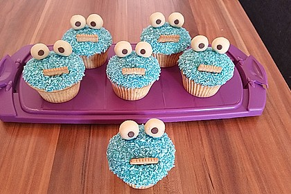 Krümelmonster Cupcakes 40