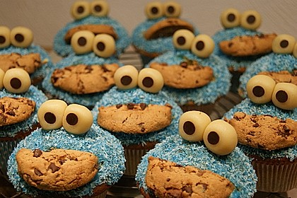 Krümelmonster Cupcakes 17