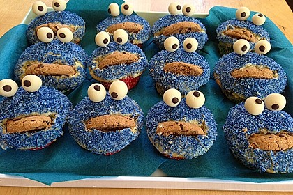 Krümelmonster Cupcakes 93