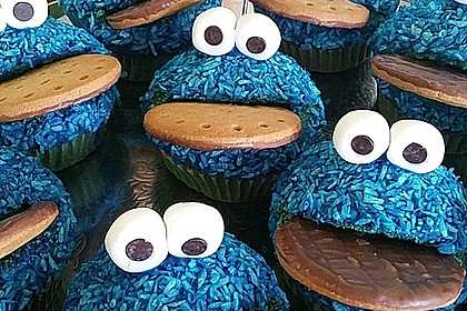 Krümelmonster Cupcakes 14