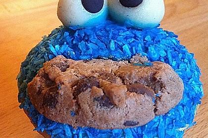 Krümelmonster Cupcakes 12
