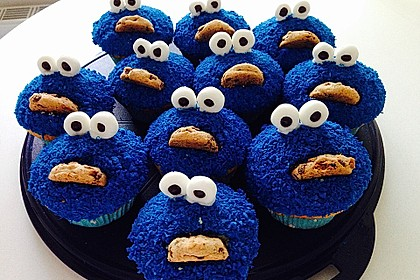Krümelmonster Cupcakes 36