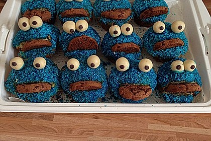 Krümelmonster Cupcakes 54