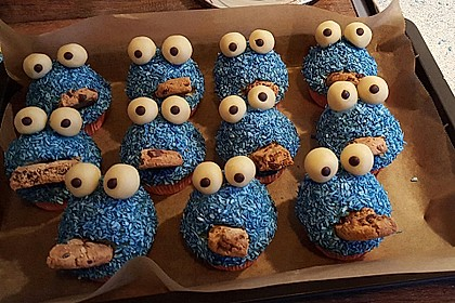 Krümelmonster Cupcakes 96