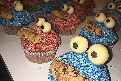 Krümelmonster Cupcakes 73