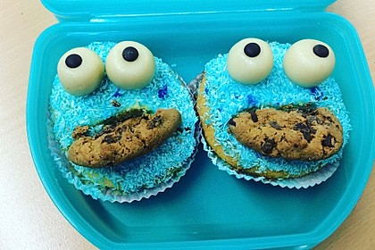 Krümelmonster Cupcakes 100