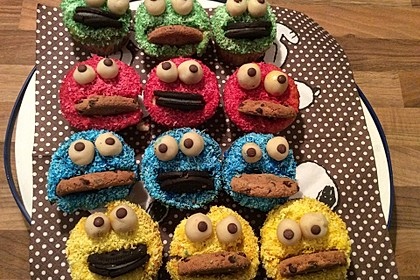 Krümelmonster Cupcakes 28