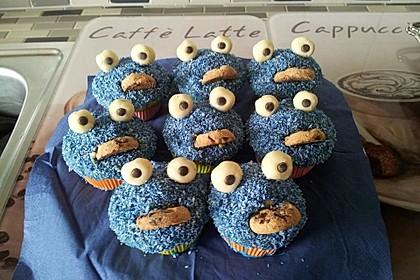 Krümelmonster Cupcakes 101