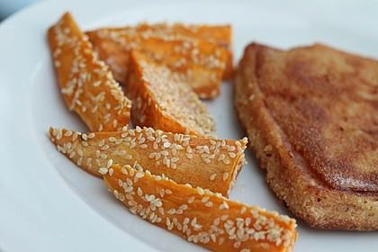Süßkartoffelspalten aus dem Ofen 4