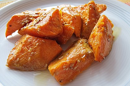 Süßkartoffelspalten aus dem Ofen