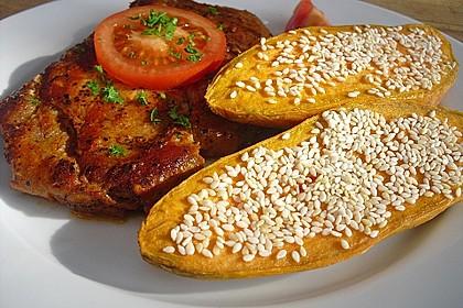 Süßkartoffelspalten aus dem Ofen 2