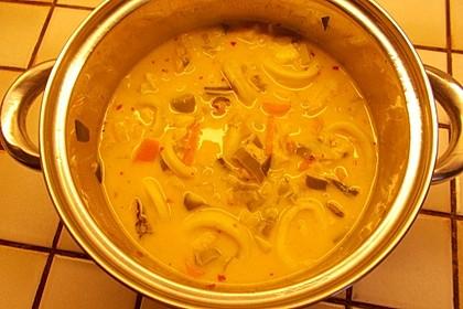 Einfache Fischsuppe mit asiatischem Touch