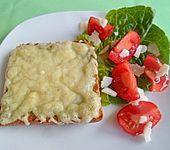 Überbackene Pesto-Käsebrote