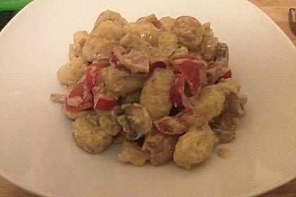 Gnocchi in Sahne-Champignons Soße 2