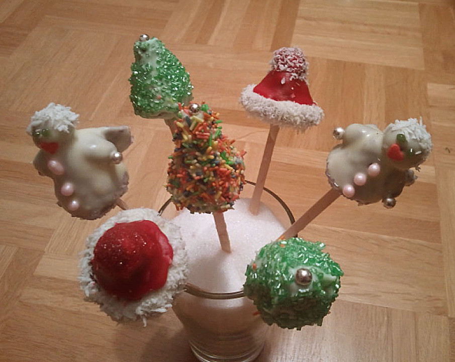 weihnachts cake pops ohne milchprodukte rezept mit bild. Black Bedroom Furniture Sets. Home Design Ideas