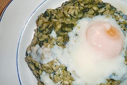 Onsen-Ei auf Spinat-Risotto 3
