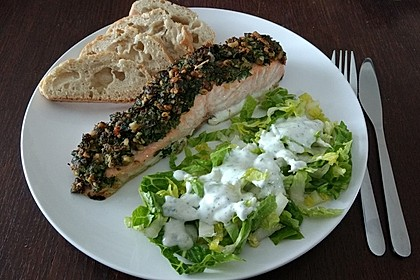 Lachs mit Parmesan-Kräuter-Walnuss-Kruste 11