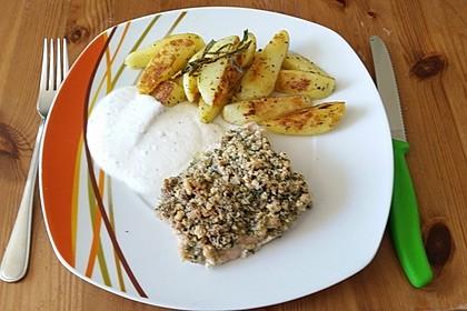 Lachs mit Parmesan-Kräuter-Walnuss-Kruste 26