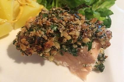 Lachs mit Parmesan-Kräuter-Walnuss-Kruste 17