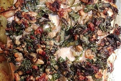Lachs mit Parmesan-Kräuter-Walnuss-Kruste 57