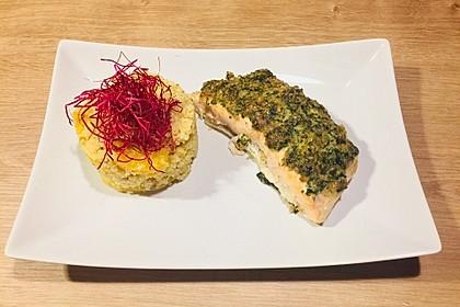 Lachs mit Parmesan-Kräuter-Walnuss-Kruste 29