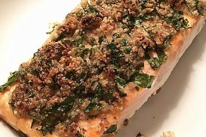 Lachs mit Parmesan-Kräuter-Walnuss-Kruste 22