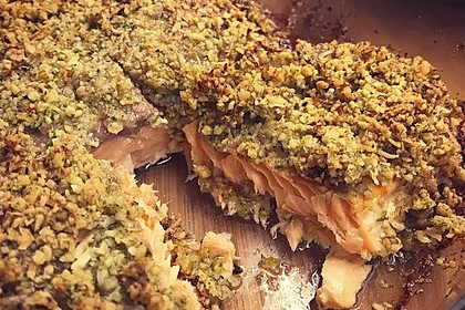 Lachs mit Parmesan-Kräuter-Walnuss-Kruste 19