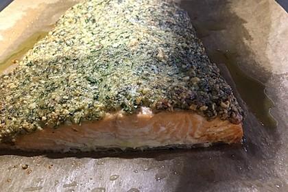 Lachs mit Parmesan-Kräuter-Walnuss-Kruste 41