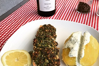 Lachs mit Parmesan-Kräuter-Walnuss-Kruste 20