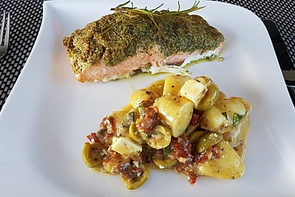 Lachs mit Parmesan-Kräuter-Walnuss-Kruste 21