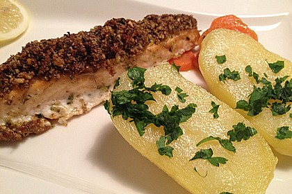 Lachs mit Parmesan-Kräuter-Walnuss-Kruste 13