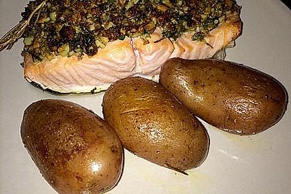 Lachs mit Parmesan-Kräuter-Walnuss-Kruste 14