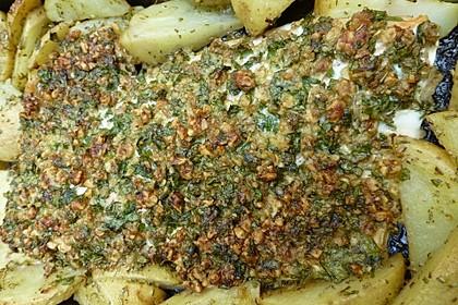 Lachs mit Parmesan-Kräuter-Walnuss-Kruste 54