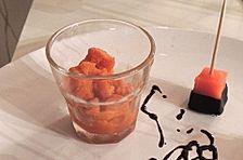 Karotten-Sorbet mit rotem Pfeffer