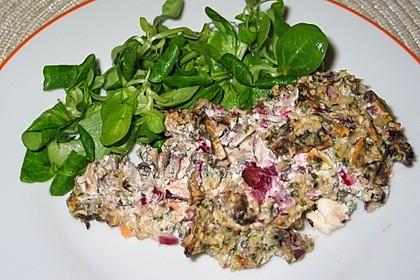 Schlemmer-Fisch mit Champignonkruste