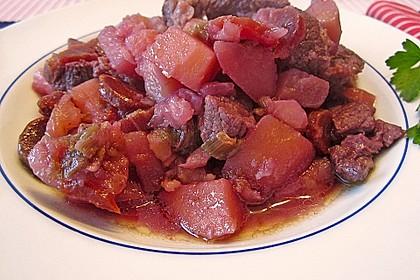 Fleischtopf mit Gemüse im Schnellkochtopf 1
