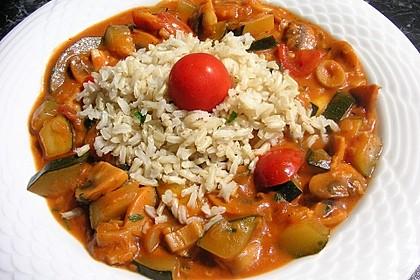 Vegetarische Champignon-Zucchini-Sauce 2