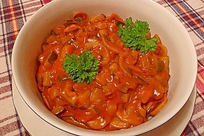 Vegetarische Champignon-Zucchini-Sauce