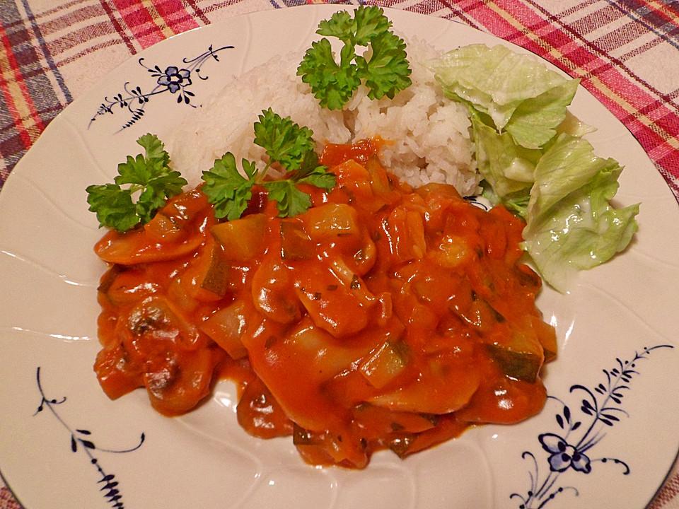 vegetarische champignon zucchini sauce rezept mit bild. Black Bedroom Furniture Sets. Home Design Ideas