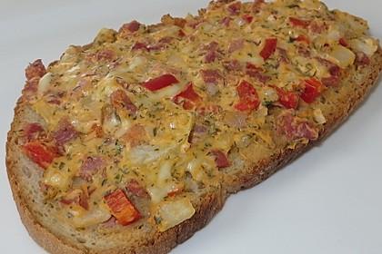 Pikantes überbackenes Brot 1