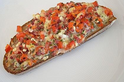 Pikantes überbackenes Brot