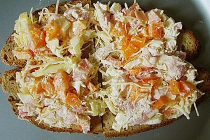 Pikantes überbackenes Brot 11
