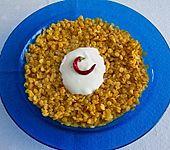 Rote Linsen mit Joghurt (Bild)